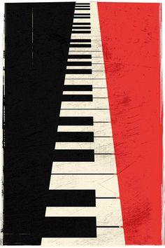 Minimaliste vintage Piano touches impression par Lautstarke sur Etsy