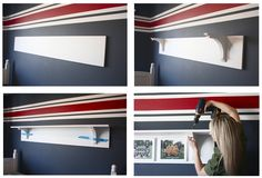 The Yellow Cape Cod: DIY Trophy and Team Photo Display Shelf Tutorial