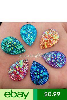 Craft Flatback & Button Embellishments Crafts Beaded Earrings Patterns, Resin Flowers, Rhinestone Wedding, Flower Shape, Beadwork, Beading, Turquoise Bracelet, Embellishments, Abs