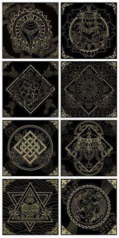 35 Ideas Tattoo Designs Mandala Symbols For 2019 Mandala Symbols, Sacred Geometry Symbols, Sacred Geometry Tattoo, Zentangle, Typographie Logo, Art Asiatique, Tibetan Art, Magic Circle, Buddhist Art