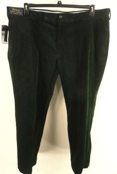 POLO RALPH LAUREN $125 GREEN Big & Tall CLASSIC FIT CORDUROY STRETCH PANTS 48X30 #PoloRalphLauren #Corduroys