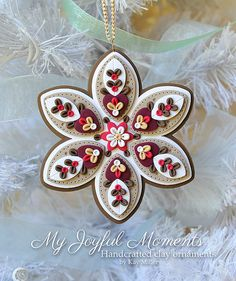 Handcrafted Polymer Clay Ornament di MyJoyfulMoments su Etsy