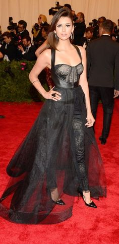 Best Dressed at the 2013 Met Gala – Nina Dobrev in Monique Lhuillier