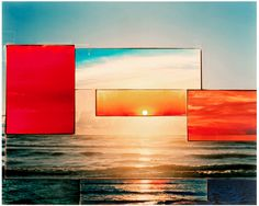 sunset series photo collage by carolin reichert The Sky Is Falling, Found Art, Mixed Media Collage, Color Collage, Music Film, Photo Projects, Photography Projects, Photomontage, Community Art
