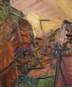 Frank Auerbach, Mornington Crescent – Winter morning, 1989. Oil on canvas. © Frank Auerbach. See: http://www.tate.org.uk/whats-on/tate-britain/talks-and-lectures-conversation/on-auerbach-painting-process-landscape