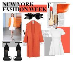 """New York Fashion Week - Layers"" by sarahistheluckyone ❤ liked on Polyvore featuring Roksanda Ilincic, Nicki Minaj, Topshop, Yves Saint Laurent, Clarins, NARS Cosmetics and PolyvoreNYFW"