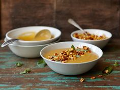 Kasvissosekeitto à la Mifu Monkey Bread, Chili, Cereal, Cooking Recipes, Breakfast, Ethnic Recipes, Soups, Morning Coffee, Chile
