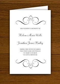 Flourish Wedding Programs  $39.95