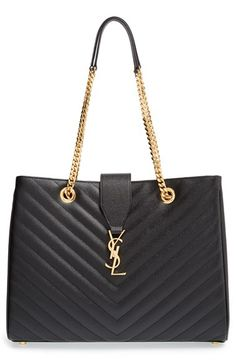 d3ef5196af9e Saint Laurent  Monogram  Grained Leather Shopper