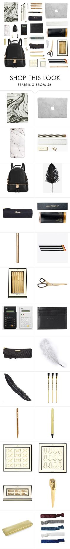 """""""Modern Backpack"""" by belenloperfido ❤ liked on Polyvore featuring Kate Spade, Michael Kors, Fountain, Harrods, Sloane Stationery, ystudio, i am a, Unison, Class Roberto Cavalli and Faber-Castell"""