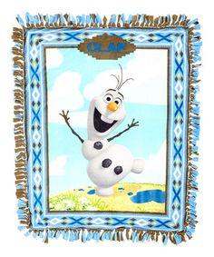 Look at this #zulilyfind! Olaf Alpine Wonder No-Sew Fleece Throw Kit by Frozen #zulilyfinds