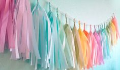 Soft Pastel Tassel Garland Nursery or Baby shower by StudioMucci