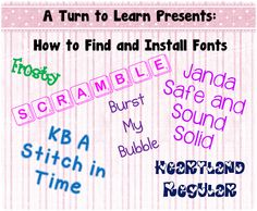 learn how to find and install cute fonts on your computer!