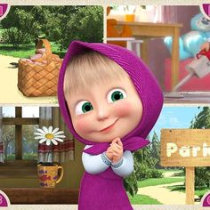 Masha and the Bear Blue Wallpaper Iphone, Bear Wallpaper, Disney Wallpaper, Cute Cartoon Pictures, Cute Cartoon Girl, Masha Et Mishka, Marsha And The Bear, Mickey Mouse Photos, Happy New Year Gif