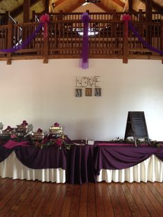 Buffet Set Up with Personalized Back Drop