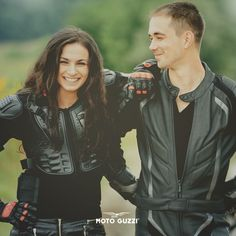 It's the time for journeys. And dreams. Biker Leather, Leather Jacket, Woman Smile, Bike Style, Moto Guzzi, Pride, Dreams, Car, Black