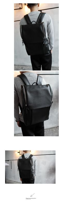 Faux-Leather Backpack, Black , One Size - Streetstar | YESSTYLE