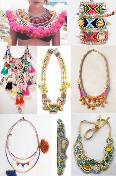 Colorful bohemian accessories