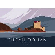 Buy Eilean Donan Castle Art Poster by Peter McDermott at Bay Attic. Secure Online Shopping, Free UK Shipping on orders over 30 Day Money Back G. Posters Uk, Nature Posters, Railway Posters, Watercolour Challenge, Eilean Donan, Tourism Poster, England, Vintage Travel Posters, Poster Vintage