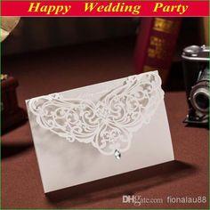 Wholesale Wedding Invitation - Buy Elegant Invitation Card in Beige Laser Cut Flower Wedding Invitation for Wedding Party Wedding Favors 13121107, $1.49 | DHgate