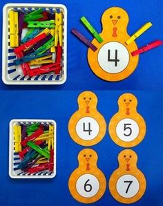 Homeschool math activity with using clothespins 3 Year Old Preschool, Preschool Learning, Kids Learning Activities, Montessori Activities, Classroom Games, Math Games, Sudoku, Act For Kids, Math Manipulatives