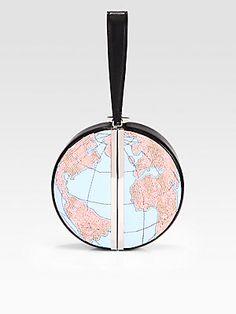 Diane von Furstenberg Beaded Globe Clutch