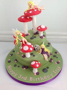 A Fairy Toadstool birthday cake by Fancy Fondant
