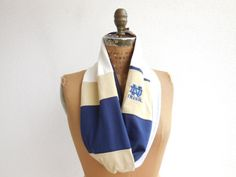 Notre Dame T Shirt Infinity Scarf / Eternity Scarf / Navy by ohzie