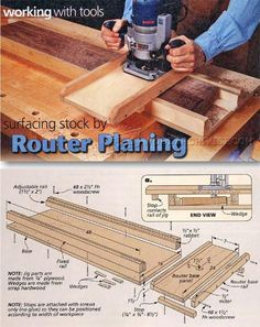 Router Planing Jig - Router Tips, Jigs and Fixtures | WoodArchivist.com