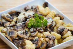 gnocchi and mushrooms in brown butter garlic sauce Gnocci and Mushrooms in a Brown Butter Sauce #weekdaysupper