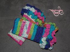 Crocheted Ruffle Leg Warmers