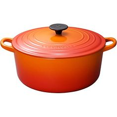 Le Creuset Enameled CastIron 412Quart Round French Oven Flame *** Click on the image for additional details.