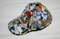 If you are looking for a unique comic book craft, this Mod Podge hat fits the bill! Show your undying love of comics with this fun project.