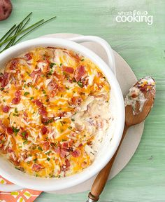 Fully Loaded Scalloped Potatoes #recipe