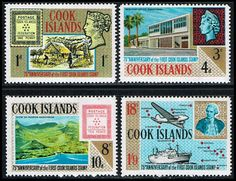 Cook Islands 195-198 Stamps 75th Anniversary of 1st Cook Islands Stamps SP CI 195to198-1 MH, Stamp on Stamp Topical  (http://www.bmastamps2.com/stamps/island-nations/cook-islands/cook-islands-195-198-stamps-75th-anniversary-of-1st-cook-islands-stamps-sp-ci-195to198-1-mh/)