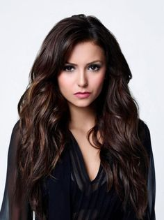 Dark Chocolate Hair Color with Caramel Highlights