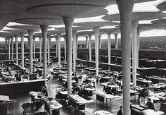 Le béton en architecture / Siège de Johnson Wax, Racine, Wisconsin, États-Unis, 1936, Frank Lloyd Wright. © ARS, NY and DACS, London 2011. Courtesy S.C. Johnson and Son Inc