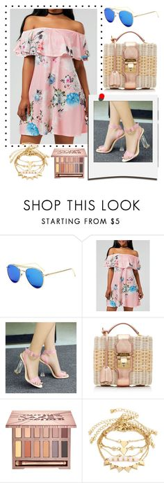 """""""off shoulder dress"""" by teto000 ❤ liked on Polyvore featuring Polaroid, Mark Cross and Urban Decay"""