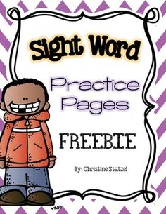These worksheets are great for sight word practice! There is one word per page: students trace the word, write it on their own, find it in the mini word search, and use it in a sentence. Use these pages for homework, morning work, small group, centers, whole group, or fast finishers!