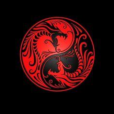 Yin Yang Dragons, purple and black Round Stickers Small Dragon Tattoos, Asian Dragon Tattoo, Yin Yang Art, Yin Yang Designs, Round Stickers, Custom Posters, Purple And Black, Metal Art, Cartoons