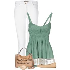 """Mint + Nude"" by cindycook10 on Polyvore"