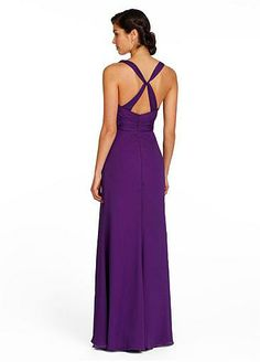 NOUVEAU! Alluring Chiffon V-neck Natural Waistline Floor-length A-line Bridesmaid Dress