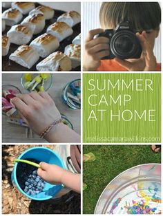 Summer fun for families, no schedules, no fees? Yes please. DIY Summer camp at home!