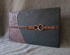 western journal with copper closure front