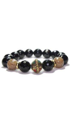 Black Tibetan Bead Bracelet by Devoted