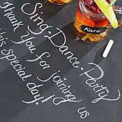Create a unique tabletop decoration with our Chalkboard Paper Table Runner. Each Chalkboard Table Runner includes black flat paper and white chalk. Brunch Party Decorations, Brunch Decor, Brunch Table, Wedding Decorations, Wedding Ideas, Chalkboard Party, Outdoor Chalkboard, Paper Table, Table Runners