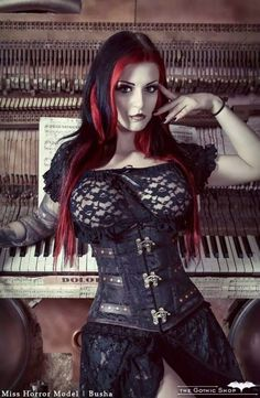 A page were you can see that goth can still mean beautiful . A place to be Goth and proud. Goth Beauty, Dark Beauty, Dark Fashion, Gothic Fashion, Chica Fantasy, Hot Goth Girls, Gothic Models, Goth Women, Cyberpunk Fashion