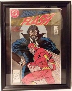 FRAMED DC COMIC BOOK The Flash #13 DC Comics 1988 Savage FREE BONUS FRAME