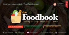 Foodbook - Recipe Community, Blog, Food & Restaurant Theme. This is a theme made by TouchSize, a well-known premium themes and plugin creator www.touchsize.com. The company is a leading WordPress developer that always looks for quality and beautiful aesthetics along with excellent options and settings. Not only it offers Premium WordPress Themes, but also offers great and quality support for their users and customers.#food #blog #design #inspiration