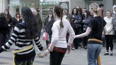 Irish dance group 'Fusion Fighters' marked their one-year anniversary with a collaborative 'Fusion Flash Mob' in Oxford on March 2nd 2014, that brought together a variety of performance groups by a button the public 'Press for Fusion'.